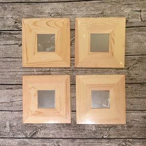 IKEA Malma Natural Wood Mirrors, Set of 4
